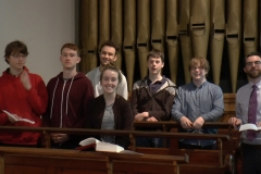 Choral Scholars at Choral Compline. Photo: A. Cras
