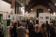 Art Sale & Exhibition Opening Night, Nov 2017. Photo: A. Cras