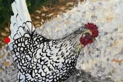 Happy Hen in Altamont Garden SOLD
