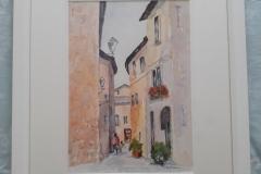 Down the narrow Street