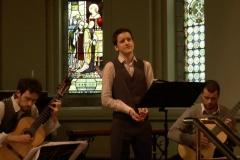 Music at Sandford: Eoin Hynes (Tenor), Eoin Flood and Morgan Buckley (Guitars). Photo: A. Cras