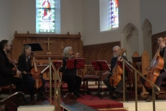 Aisling Kenny and Jenny Robinson with Dublin Viols. Photo: A. Cras