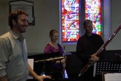 Music at Sandford: The Sundance Trio, August 2015.  Photo: A. Cras
